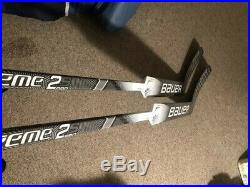 2 New Bauer Supreme S2 goalie sticks left, standard curve, 27 Senior