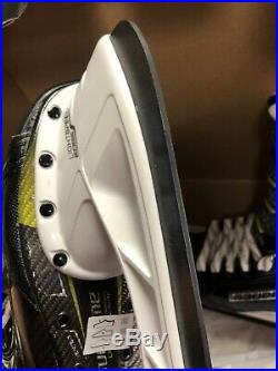BRAND NEW! Bauer Supreme 2S Pro Skates with Black Carbon Steel Size 9 D Width