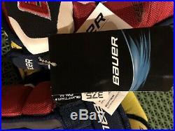 Bauer Supreme 1S Hockey Gloves Maroon/Navy Senior Size 13 NWT
