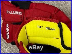 Bauer Supreme 1S New Jersey Devils NHL Pro Stock Return Hockey Player Gloves 14