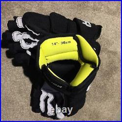 Bauer Supreme 1S Pro Stock Hockey Gloves, 14 Lazar Flames