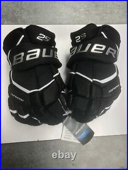 Bauer Supreme 2S Ice Hockey Gloves Black Senior Size 14 (0709)