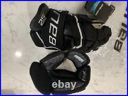 Bauer Supreme 2S Pro Hockey Gloves Black And White Senior Size 14