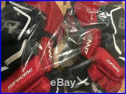 Bauer Supreme 2S Pro Ice Hockey Gloves Navy/Red White Senior Size 14
