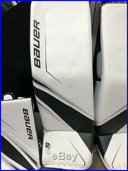Bauer Supreme 2S Pro Senior Goal Set Glove, Blocker, Pads WHT/BLK