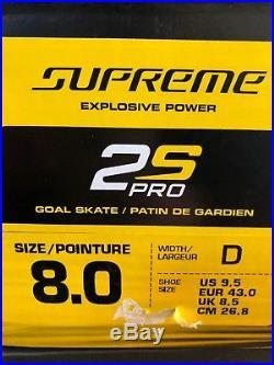 Bauer Supreme 2s Pro Goal Skates Senior Size 8D