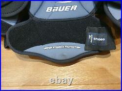Bauer Supreme SP 1000 Hockey Shoulder Pads Spine Stomach Protection size S