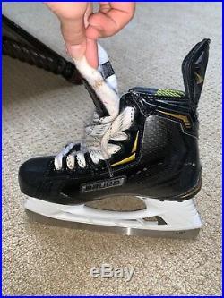 Bauer supreme 2s black skates size US 6 only used three times, pretty much new