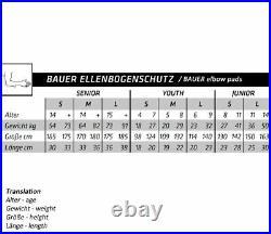 Ellenbogenschutz Bauer Supreme 2S Pro Junior -Eishockey