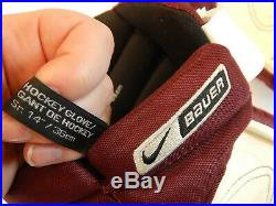 Minnesota Golden Gophers Nike Bauer Supreme One90 Pro 14 Hockey Gloves 36cm