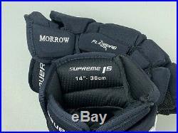 NEW! Bauer Supreme 1S Winnipeg Jets NHL Pro Stock Hockey Player Gloves 14 Navy