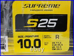 NEW Bauer Supreme S25 Ice Hockey Skates Sr Size 10 US 11.5