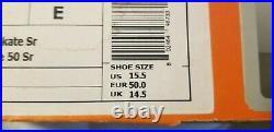 NIKE BAUER SUPREME 50 HOCKEY SKATES SR (NEW) US 14 Width E 1025763