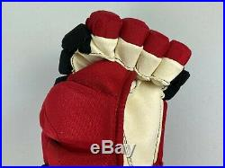 New! Bauer Supreme 1S Carolina Hurricanes NHL Pro Stock Hockey Player Gloves 14