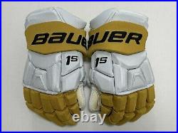 New Bauer Supreme 1S Vegas Golden Knights NHL Pro Stock Hockey Player Gloves 14