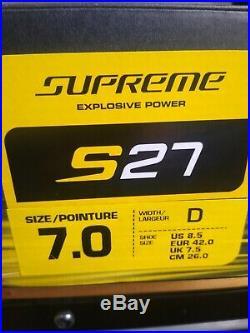 New Hockey Skate Bauer Supreme S27 Sr Skate Size 7 Shoe Size 8.5