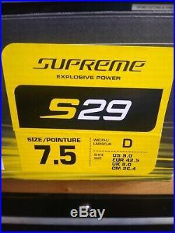 New Hockey Skate Bauer Supreme S29 Sr Skate Size 7.5 Shoe Size 9
