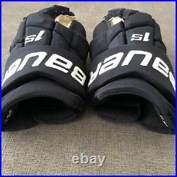 Pro Stock Bauer Supreme 1S Hockey Gloves Jets 14 Dark Navy